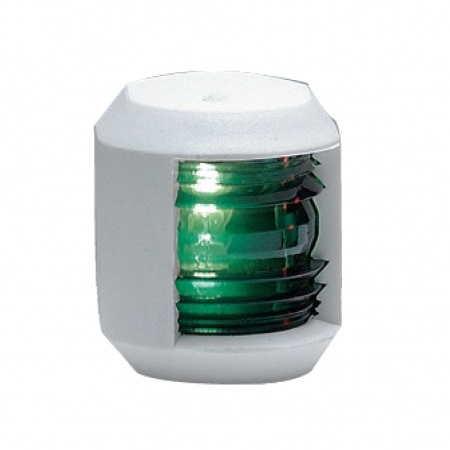 אור ניווט ירוק - גוף לבן