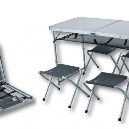 סט כיסאות ושולחן מתקפלים